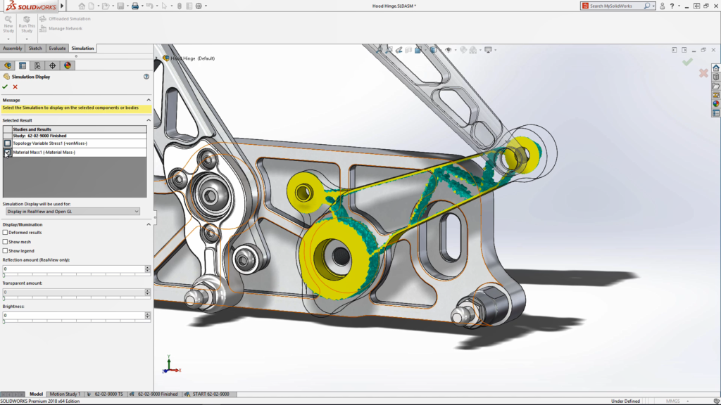 Optimization proposal for SolidWorks Topology Optimization