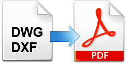 DWG/DXF file to PDF conversion