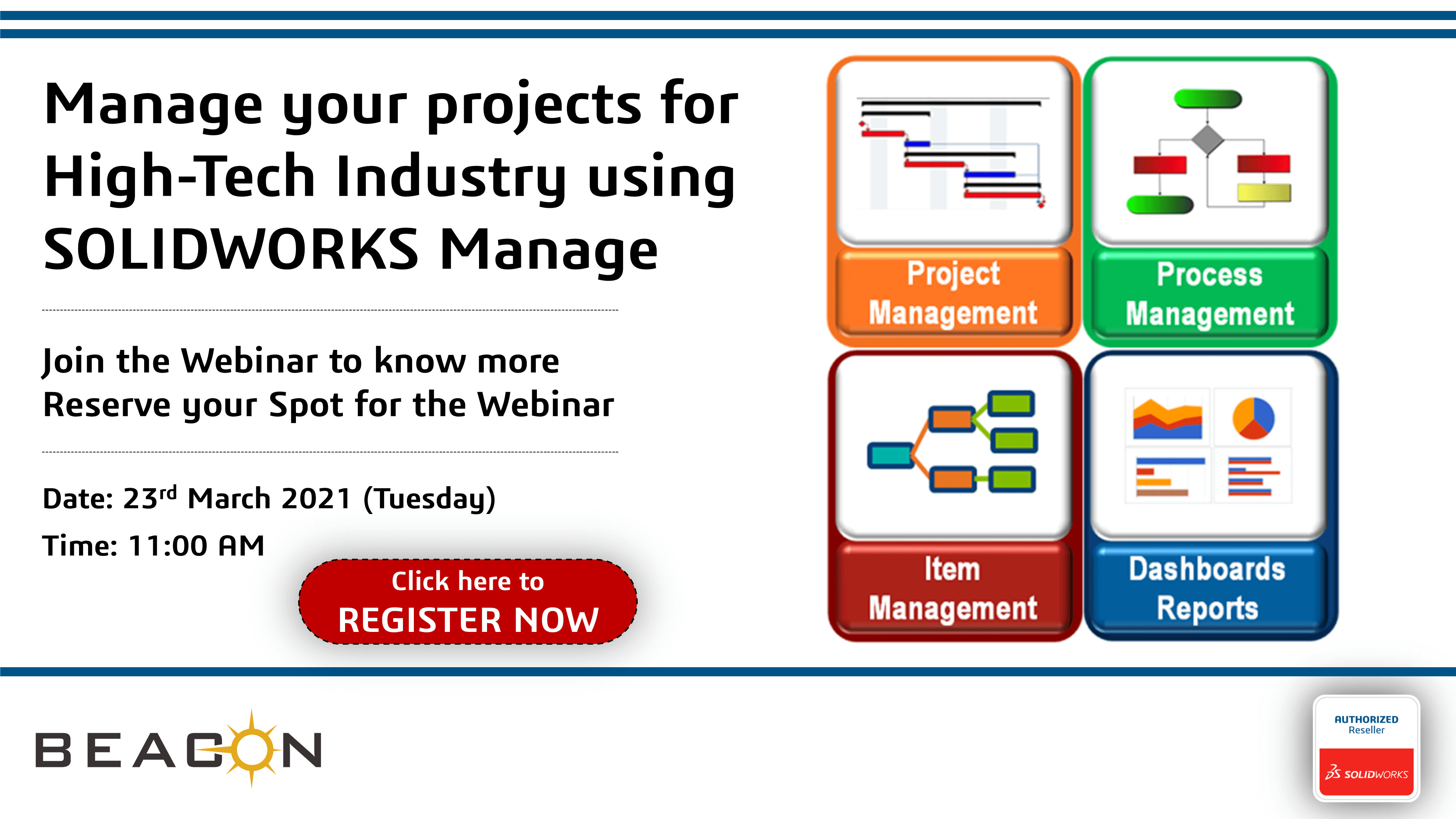 Manage your projects for High-Tech Industry using SOLIDWORKS Manage