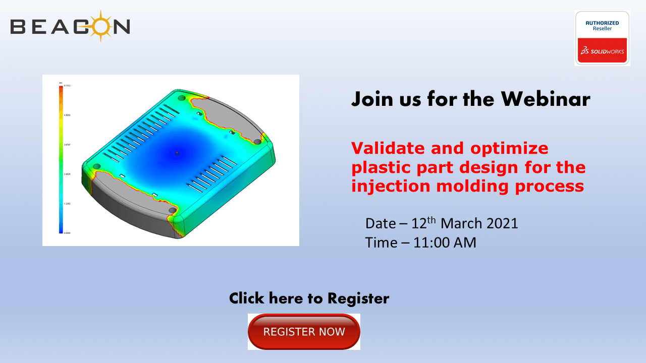 Validate and optimize plastic part design for the injection molding process