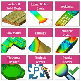 SOLIDWORKS Plastics Standard features