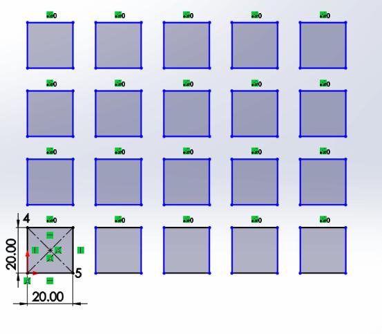Linear Pattern in SolidWorks