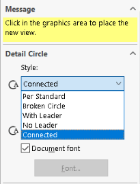 Select style in Detail Circle