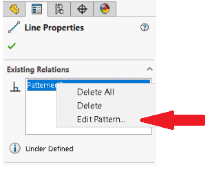 Edit Patterened0 in sketch pattern