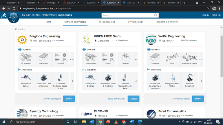 3DEXPERIENCE Marketplace Industrial Services Providers