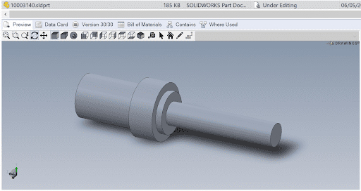 eDrawings preview in SOLIDWORKS Manage