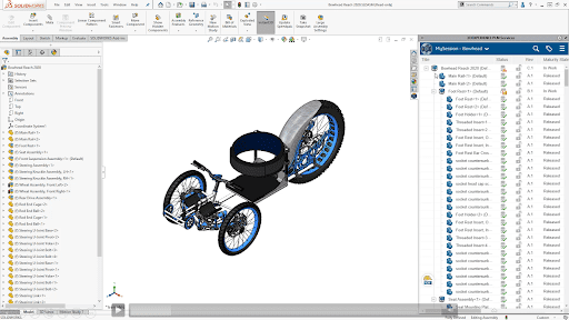 3DEXPERIENCE can be accessed directly in the SOLIDWORKS UI
