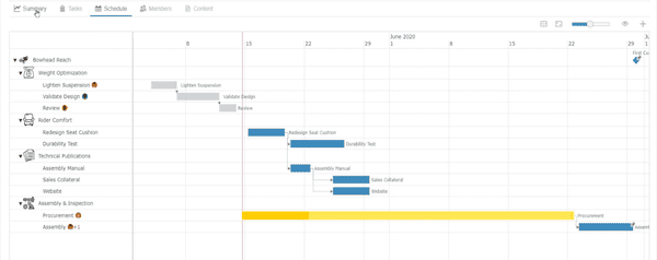 Project Planner for 3DEXPERIENCE